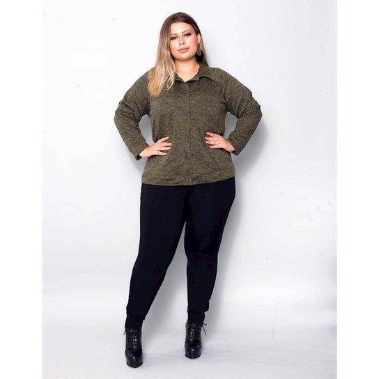 e687b6d89924a4 Calça Legging Plus Size Palank Feminina - Preto