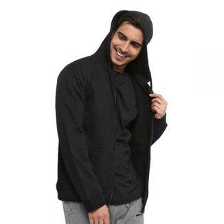 Blusa Clik da Moda Moletom de Zíper Lisa Capuz Bolso 3513ea5199c8d