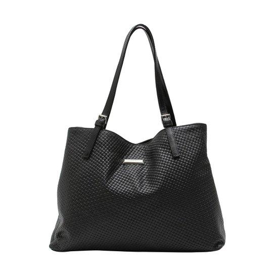 b21e772e8 Bolsa De Couro Griffazzi - Preto - Compre Agora | Zattini