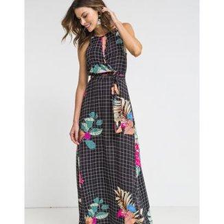 4bece37b9 Vestido Zinzane Tecido Longo Estampa Mila