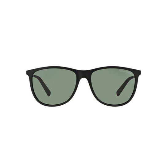 dbf7f078ba758 Óculos de Sol Armani Exchange Quadrado AX4047SL Masculino - Preto ...