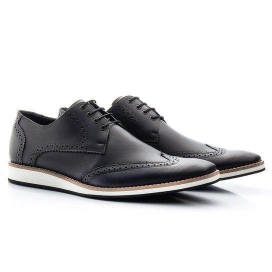 7bd0702733 Sapato Casual Bigioni Estonado Couro Masculino - Preto