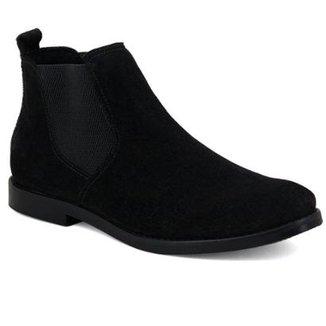 2a3b423238 Bota Chelsea Camurça Escrete Boots Fechamento Em Elástico Masculina