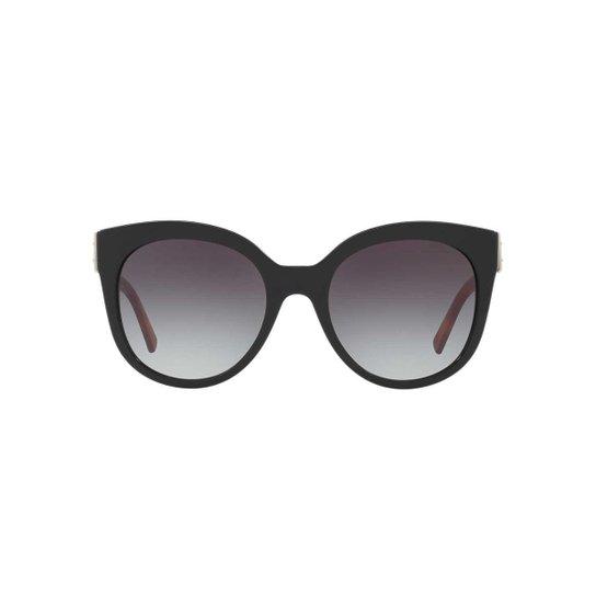 507c46396 Óculos de Sol Burberry Gatinho BE4243 Feminino - Preto - Compre ...