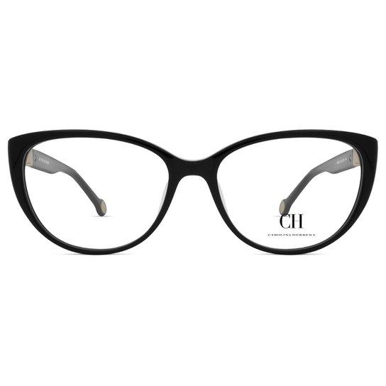 Armação Óculos de Grau de Grau Carolina Herrera VHE710-700Y-53 - Preto 08fe998a9c