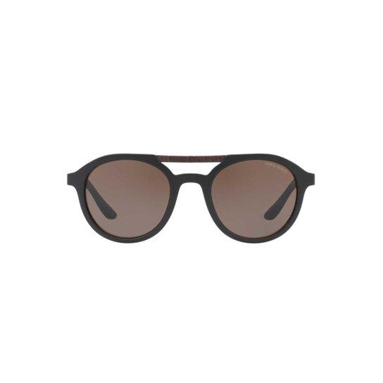 4abe0849ae4f8 Óculos de Sol Giorgio Armani Redondo AR8095 Masculino - Preto ...