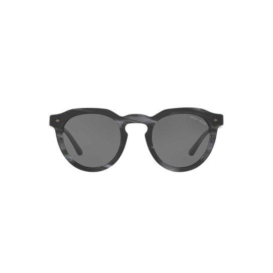 77fff763e4fd3 Óculos de Sol Giorgio Armani Redondo AR8093 Masculino - Preto ...