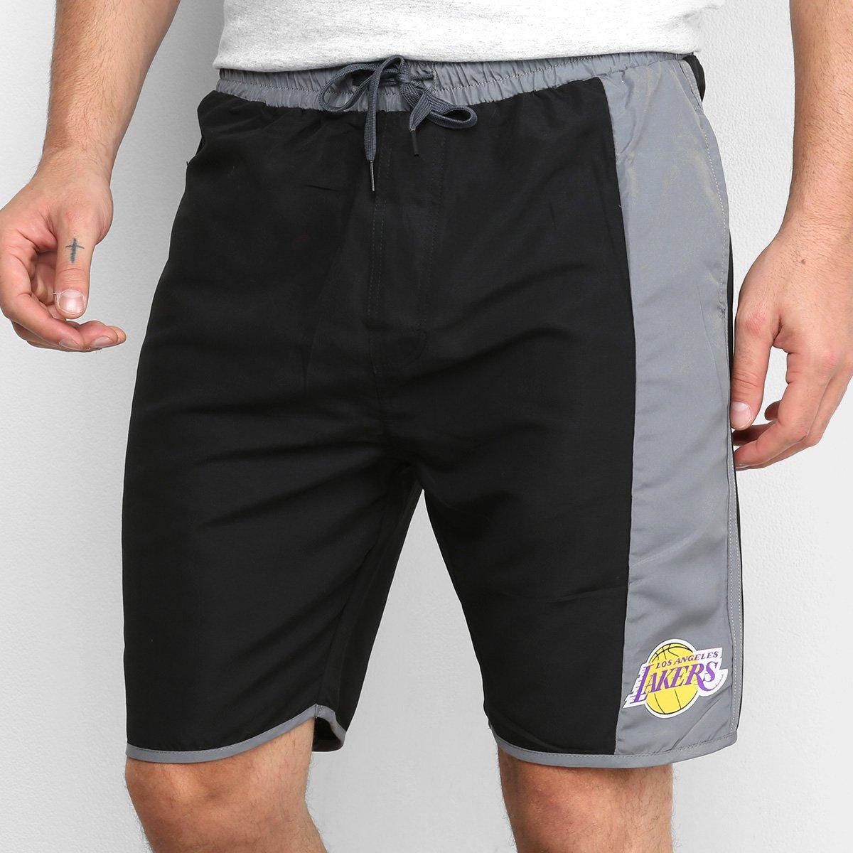 Bermuda NBA Los Angeles Lakers Colorblock Masculina