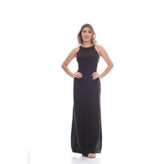bdfc8b465 Vestido Clara Arruda Longo Costa Renda Feminino