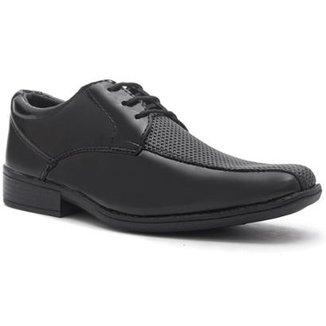 271fb05035 Sapato Social Infantil Zadock Shoes de Amarrar Verniz