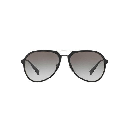 26c83bfb73bfb Óculos de Sol Prada Linea Rossa Piloto PS 05RS Masculino - Preto ...