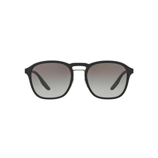 11e0781e7a425 Óculos de Sol Prada Linea Rossa Redondo PS 02SS Masculina - Preto ...