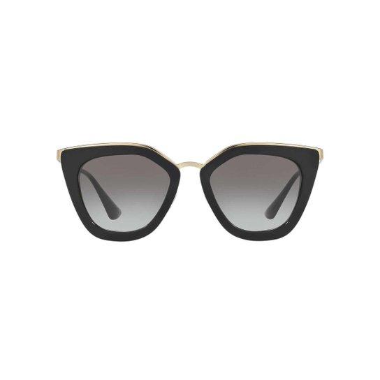 e98798bbfd534 Óculos de Sol Prada Gatinho PR 53SS Feminino - Preto - Compre Agora ...