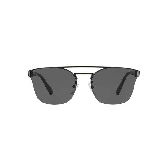 7912e123375de Óculos de Sol Prada Redondo PR 67TS Masculino - Preto - Compre Agora ...