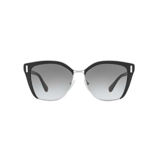 9ceb3ff5c Óculos de Sol Prada Quadrado PR 56TS Feminino - Preto | Zattini