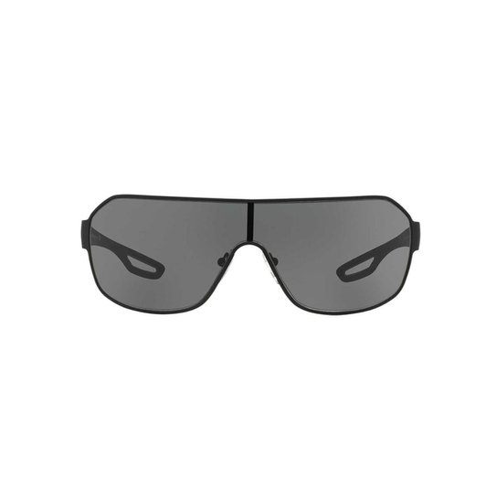 59fa615334854 Óculos de Sol Prada Linea Rossa Retangular PS 52QS Masculino - Preto ...