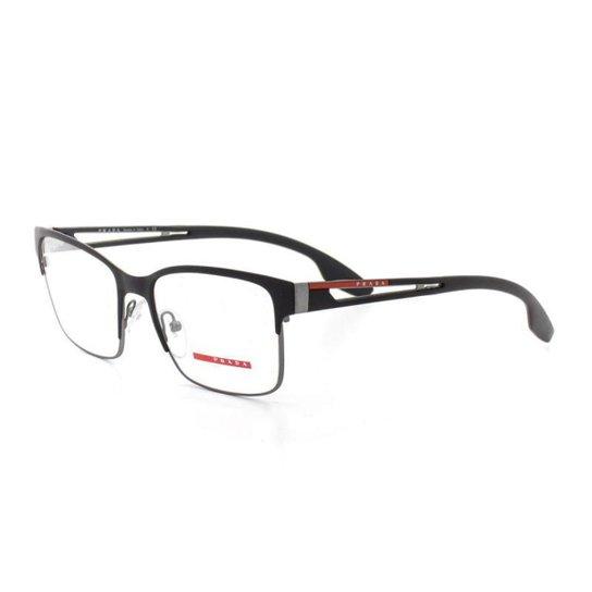 Armação De Óculos De Grau Prada 55I T 55 C 6Bj-1O1 Masculino - Preto ... f4d50c0fcb