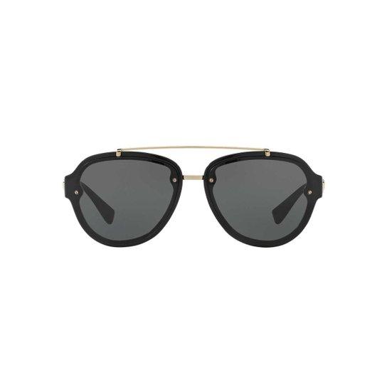 43a76b4907ebe Óculos de Sol Versace Piloto VE4327 Masculino - Preto - Compre Agora ...