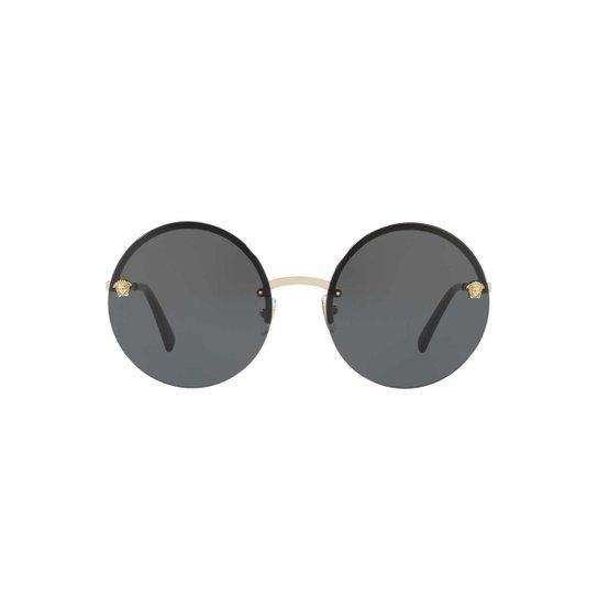 f0a6264407746 Óculos de Sol Versace Redondo - Preto - Compre Agora