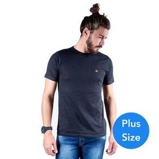 526b7484a Camiseta Mister Fish Gola Careca Basic Plus Size Masculina