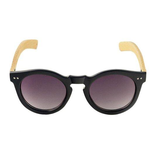 9dce03517 Óculos de Sol Khatto Round Young Bamboo Feminino - Preto | Zattini
