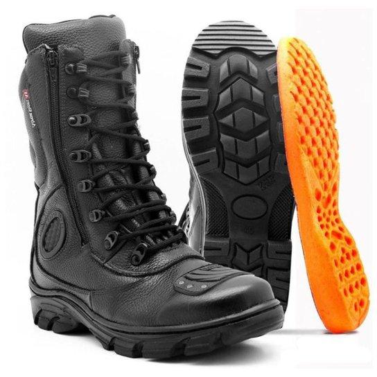 97b443517a Bota Motociclista Atron shoes Cano Alto - Preto - Compre Agora