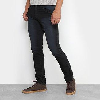 76e48169f Calça Jeans Skinny Preston Estonada Black Masculina