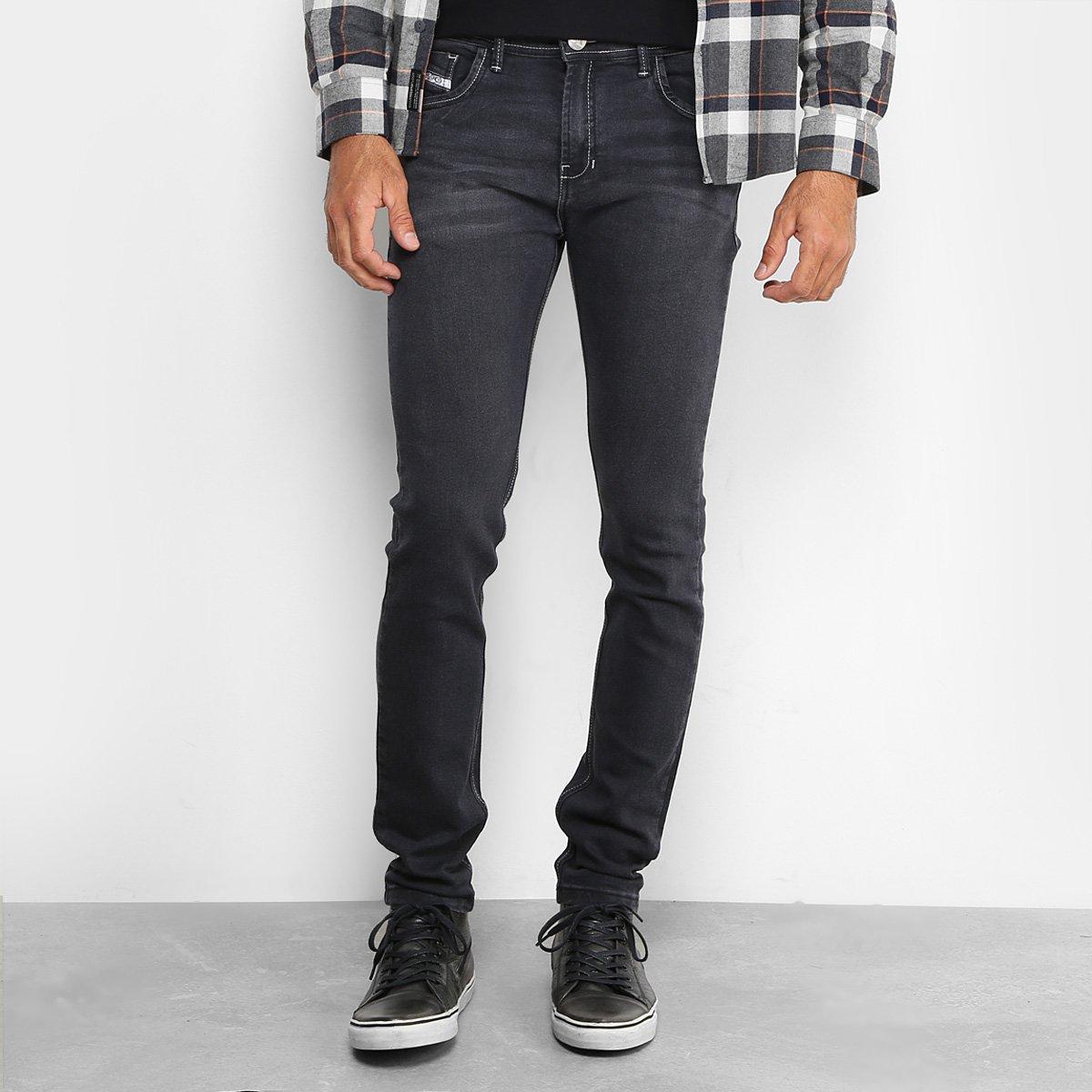287a81e44 Calça Jeans Preston Classic Black Estonada Skinny Masculina