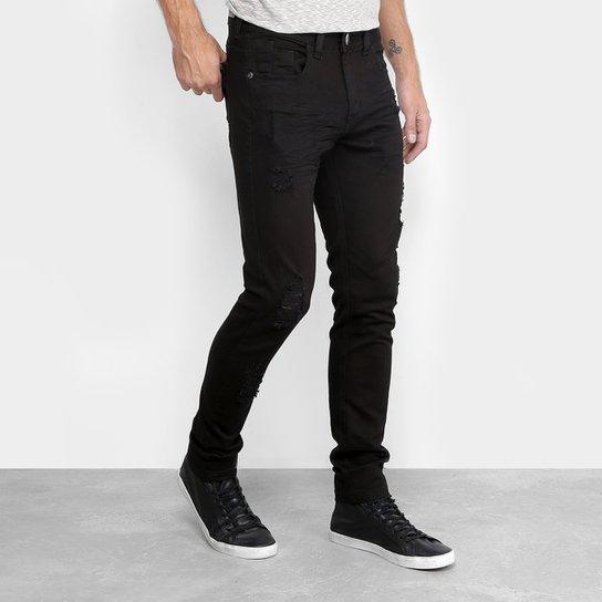 Calça Jeans Skinny Preston Black Rasgada Masculina - Compre Agora ... e5f1ed8073