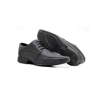 b7528c8751 Sapato Social em Couro Masculino Top Flex com Amarração