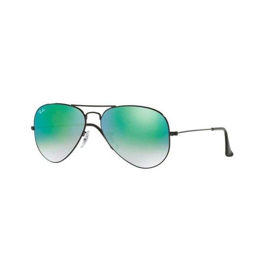 Óculos de Sol Ray-Ban RB3025L Aviator Gradiente Espelhado - Preto ... a0beb480fb