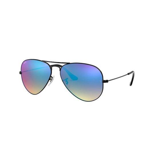 Óculos de Sol Ray-Ban RB3025L Aviator Gradiente Espelhado - Preto ... 761d2a04ee