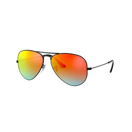 e2bfa88480346 Óculos de Sol Ray-Ban RB3025 Aviator Gradiente Espelhado - Preto ...