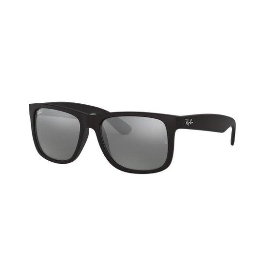 Óculos de Sol Ray-Ban RB4165L Justin - Preto - Compre Agora   Zattini 92a5acc672