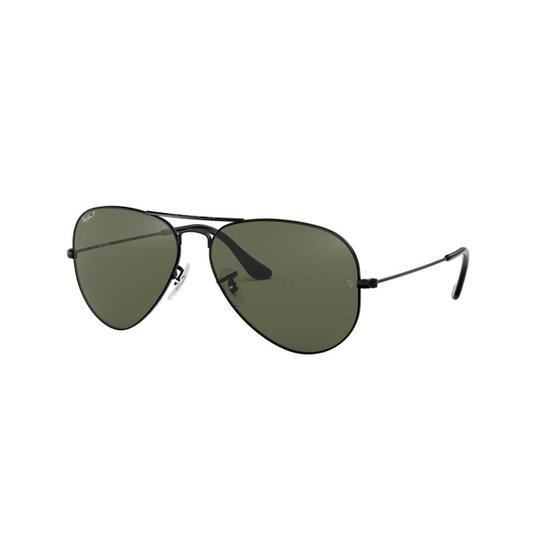 Óculos de Sol Ray-Ban RB3025L Aviator Clássico - Preto - Compre ... b7c6ed2b52