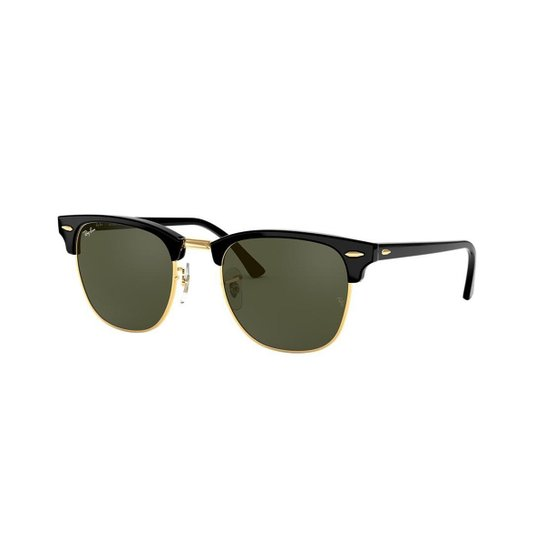 3b1795756 Óculos de Sol Ray-Ban RB3016L Clubmaster Clássico - Preto - Compre ...
