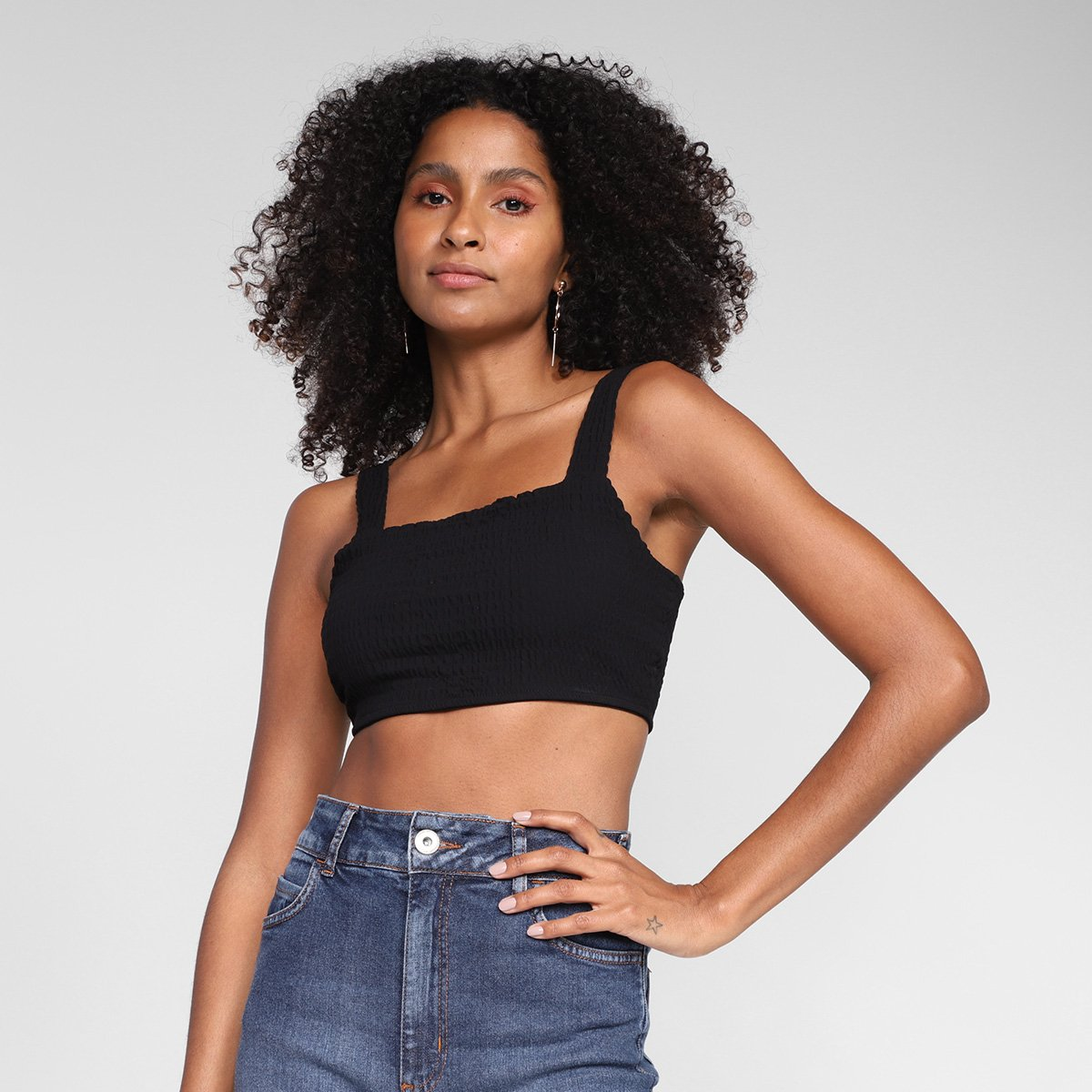 Top Colcci Cropped Liso