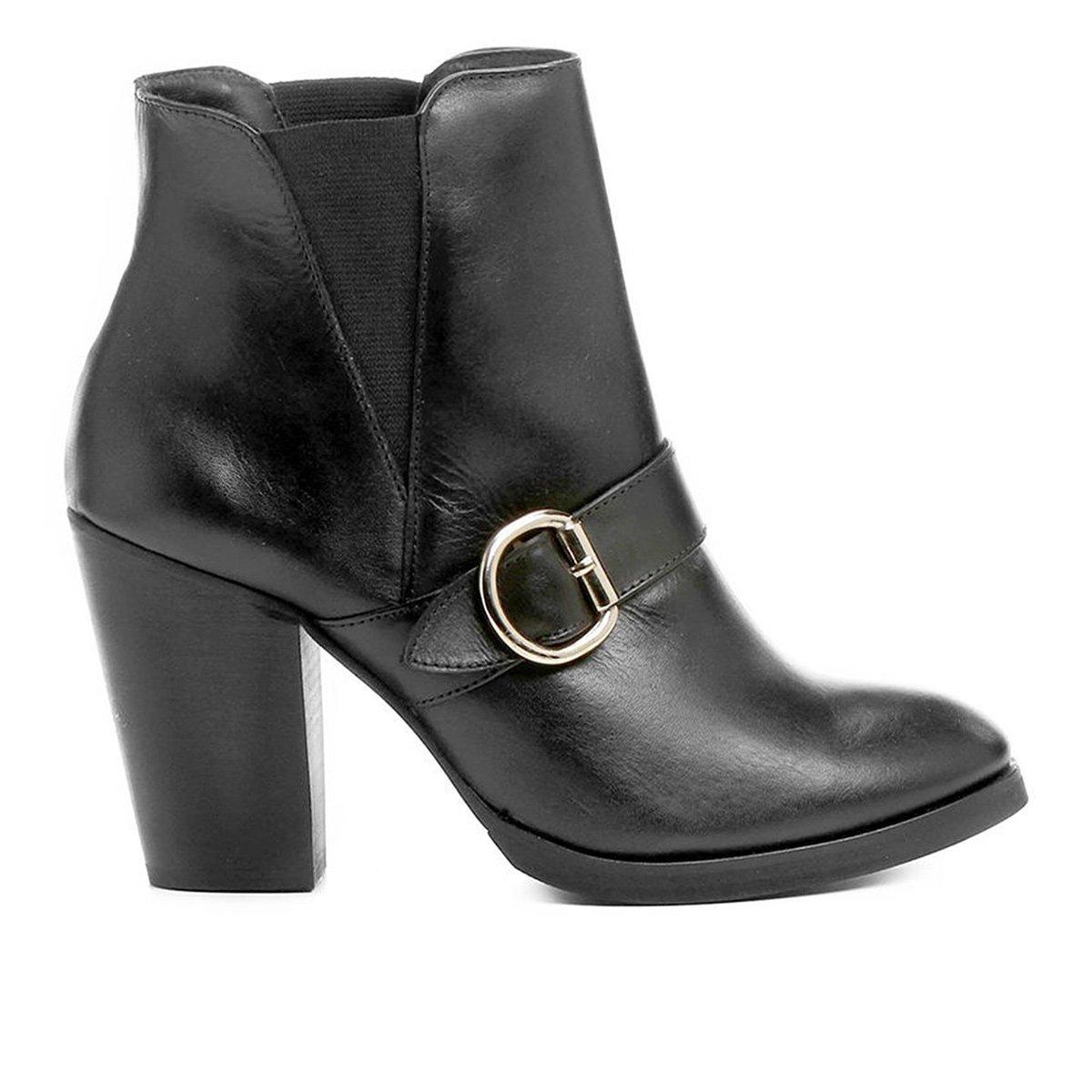 0d7e4eebf7 Bota Couro Cano Curto Shoestock Fivela Feminina