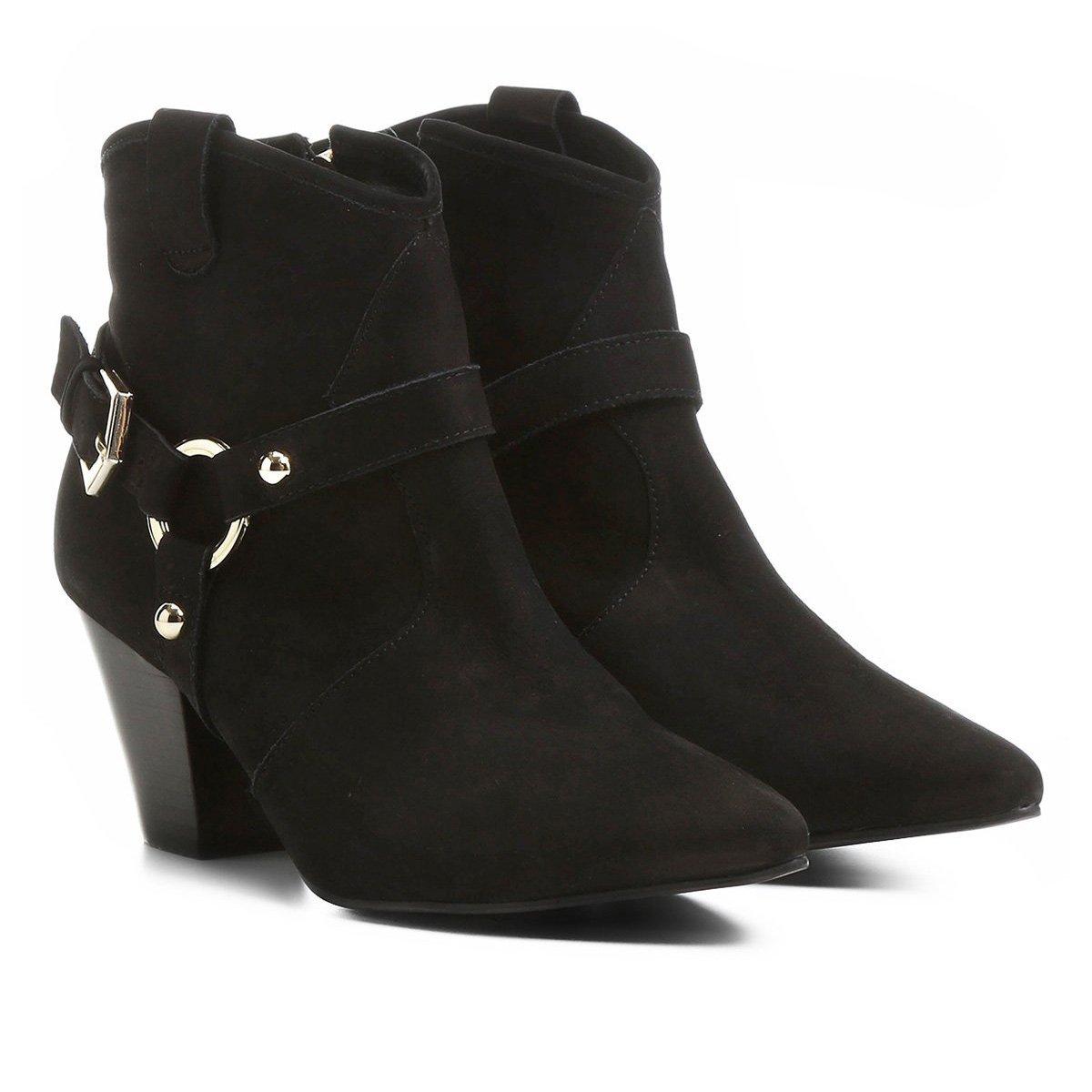 9147c16ac9 ... Bota Couro Country Shoestock Salto Selaria Feminina
