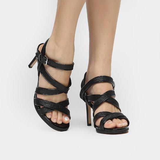 8937633c5 Sandália Shoestock Festa Meia Pata Tiras Glitter | Zattini