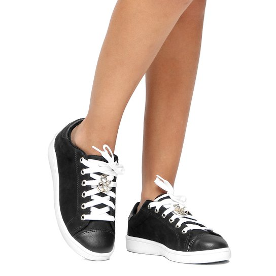 b4d7d0fdfb Tênis Couro Shoestock Medalha Feminino - Preto | Zattini