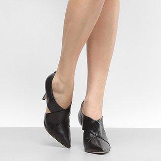 5b6e2707c6 Ankle Boot Couro Shoestock Salto Fino