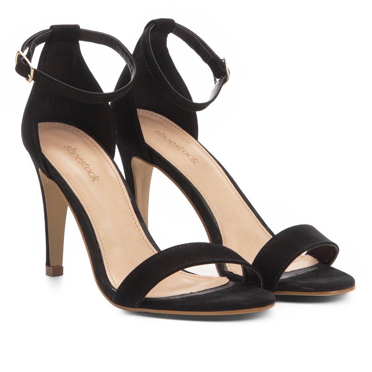 8c56116fff Sandália Shoestock Salto Fino Naked Feminina