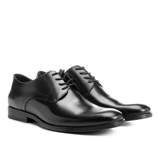 e67536e6de4 Sapato Social Couro Shoestock Bico Redondo - Preto - Compre Agora ...