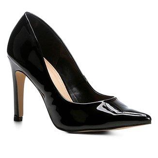 74a6b2b5e6 Scarpin Shoestock Salto Alto Verniz