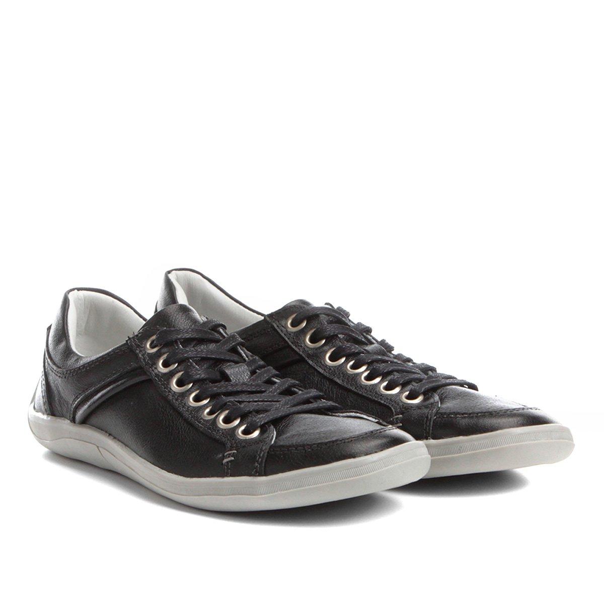 3616940cc2 Sapatênis Couro Shoestock Pespontos Masculino