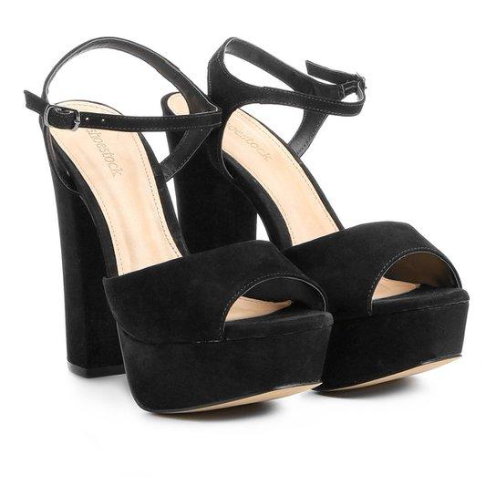 c5258b908 Sandália Couro Shoestock Meia Pata Feminina - Preto | Zattini