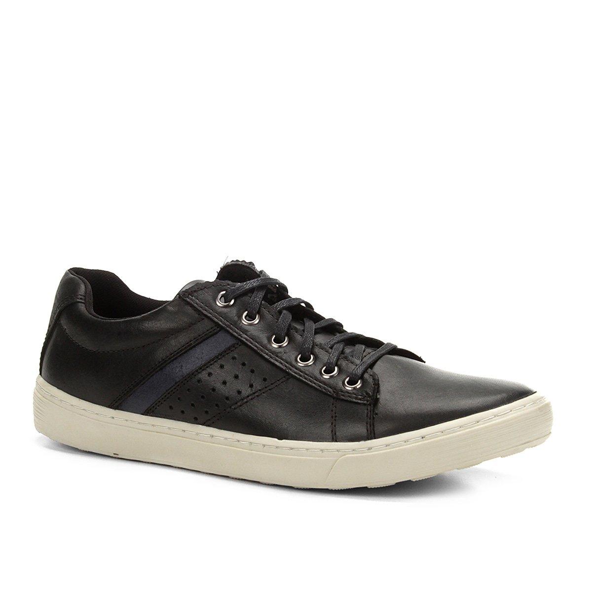 fbc0e9dddb Sapatênis Couro Shoestock Recorte Lateral Masculino