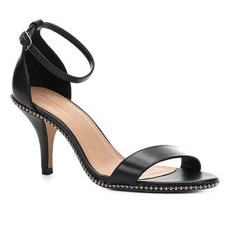 e573f30d5 Sandália Couro Shoestock Salto Fino Glam Feminina