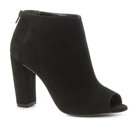 944df37dec Sandália Couro Shoestock Nobuck Salto Grosso Feminina - Preto ...